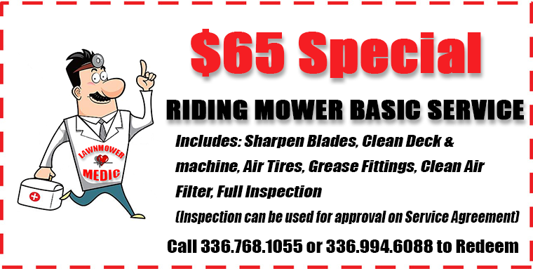 The Lawnmower Medic Sales And Promotions