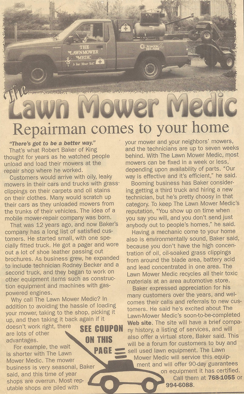 About The Lawnmower Medic 174 Mower Medic