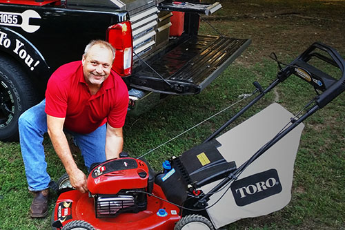 The Lawnmower Medic. Mobile lawn mower repair in Winston Salem NC